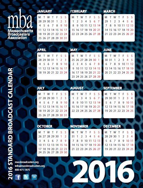 broadcast calendar